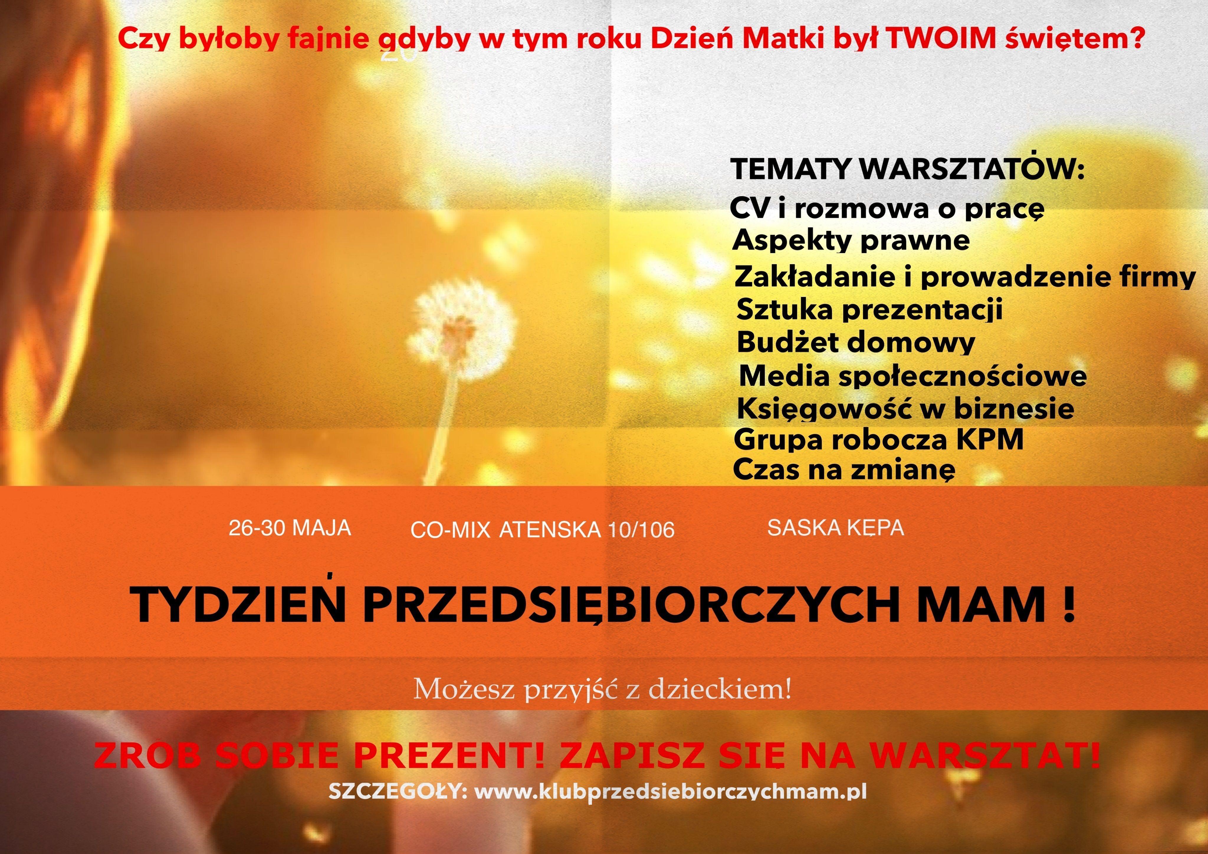 Plakat_Tydzień Przedsiębiorczych Mam 26-30.05.2014